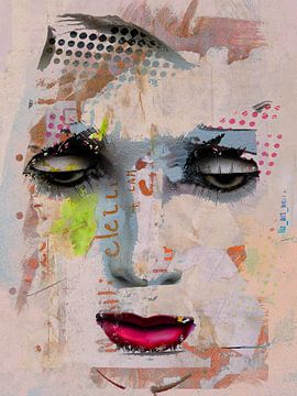 Rode lippen en zwarte ogen van Gabi Hampe