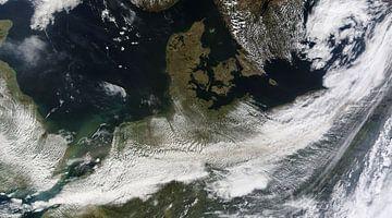 Nederland en Denemarken vanuit de ruimte van Natasja Tollenaar