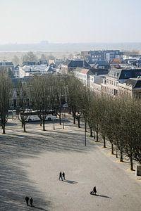 Zicht op de Bossche parade vanaf het dak van de Sint-Jan.