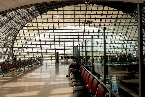 Vertrekhal Bangkok Airport van