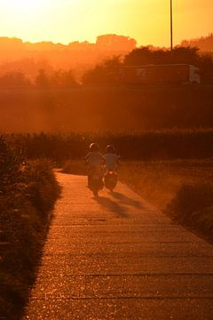 Motorrijders in de zonsverduistering von Maarten Honinx