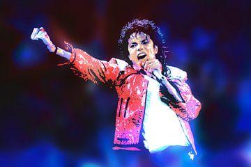 Michael Jackson Abstraktes Porträt von Art By Dominic