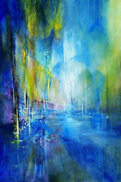Im Hafen - blau von Annette Schmucker