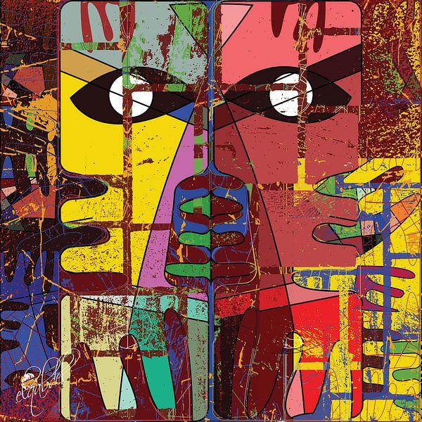 moderne geometrische abstracte oogkunst van EL QOCH