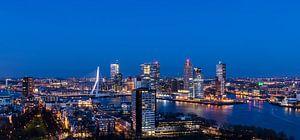 Panorama van Rotterdam Nachtopname van