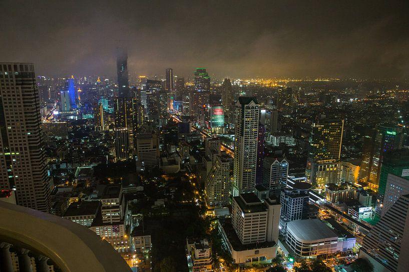 Bangkok bij nacht! van Martijn Bravenboer