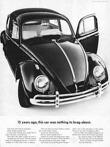 Vintage advertentie VW 1962 van