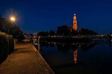 maassluis zuid holland blue hour schanseiland holland groote kerk van Marco van de Meeberg
