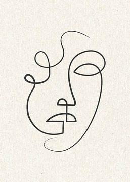 Porträt/Linienzeichnung