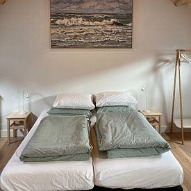 Klantfoto: Branding bij Zandvoort van Yvon Schoorl, op canvas