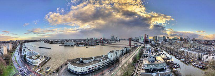 Rotterdam Maas panorama van Dennis van de Water