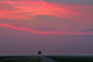 Sonnenaufgang im Norden von Groningen, Niederlande von Henk Meijer Photography