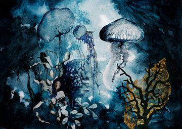 Medusa im Meer von Karin Schwarzgruber