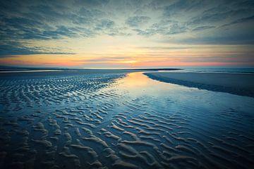 Blick über den Strand und die Nordsee von eric van der eijk