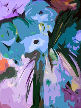Fleurs Bleues sur Angel Estevez