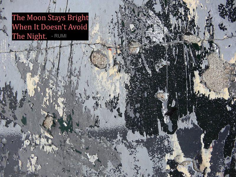 Rumi: The Moon Stays Bright When It... van MoArt (Maurice Heuts)