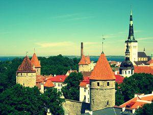 Tallin, Estland. Middeleeuwse stad.