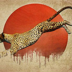Klimaatverandering - Cheetah On the Run van Jan Keteleer