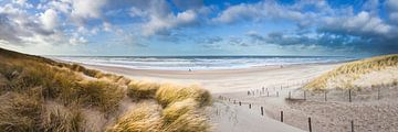 dunes et plage sur Arjan van Duijvenboden