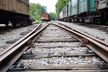 Verlaten treinen van Nanne Bekkema