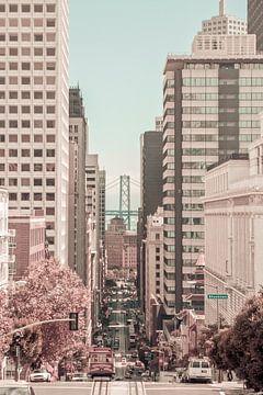SAN FRANCISCO California Street | urbaner Vintage-Stil von Melanie Viola