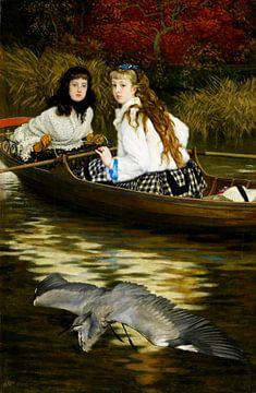 An der Themse, ein Reiher, James Tissot
