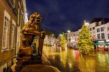 Breda centrum in de avond tijdens kerst 2020 (COVID jaar) van Chihong