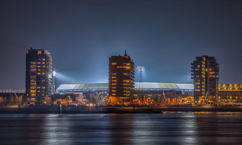 Feyenoord stadion De Kuip tijdens een Europa League avond (2) van Tux Photography