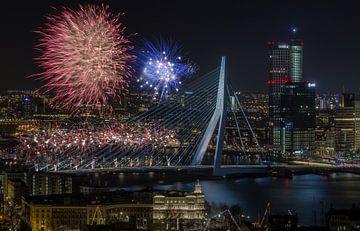 Nationale Feuerwerk 2015 in Rotterdam von MS Fotografie | Marc van der Stelt