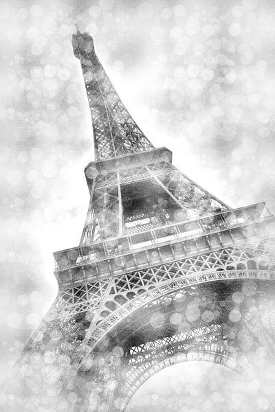 Eiffeltoren dromerige | zilver van Melanie Viola