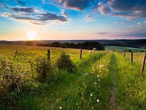 Traumhafter Sonnenuntergang in der Eifel von Rudmer Zwerver