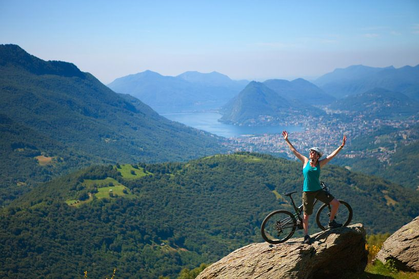 Mountainbiken in Ticino van Menno Boermans