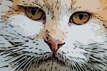 Kat ogen kijken je zelfverzekerd aan van e pha