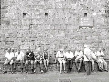 Inwoners van Volterra Italië  van