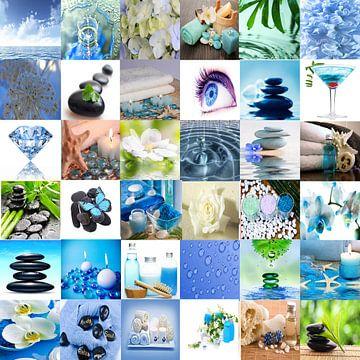 collage badkamer van Marja Hoebe