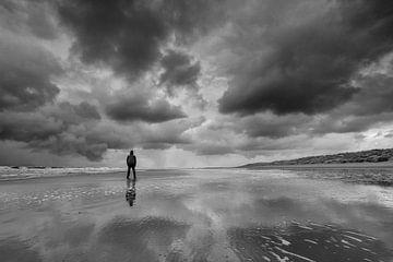 Einsam am Strand! von Peter Haastrecht, van