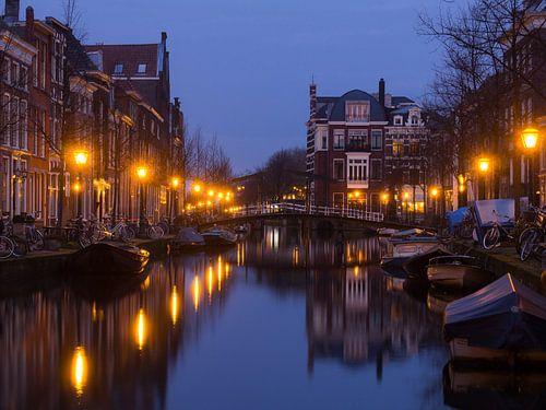 De Oude Rijn in Leiden van
