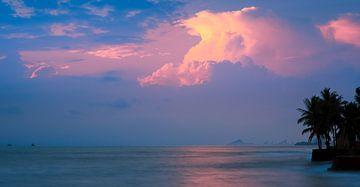 Zonsopkomst Hua Hin, Thailand van Henk Meijer Photography