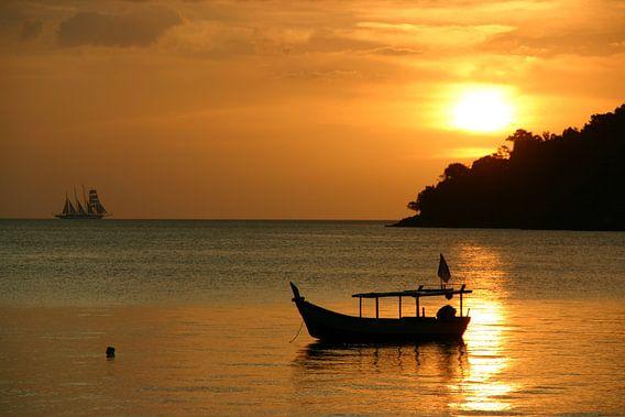 Zonsondergang op Langkawi van Antwan Janssen