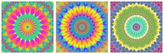 Regenboog Mandalas 1