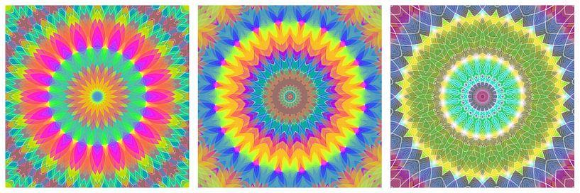 Regenboog Mandalas 1 van Marion Tenbergen