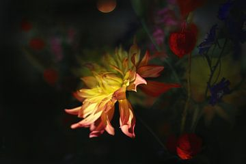 Herfst bloemen nacht van Marianna Pobedimova