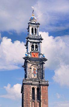 L'emblématique Tour Western Amsterdam contre un ciel bleu sur Tony Vingerhoets
