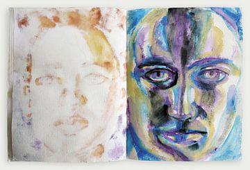 sketchbook ouvert sur Eva van den Hamsvoort