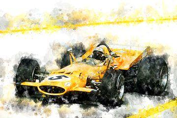 Bruce McLaren 1969 von Theodor Decker