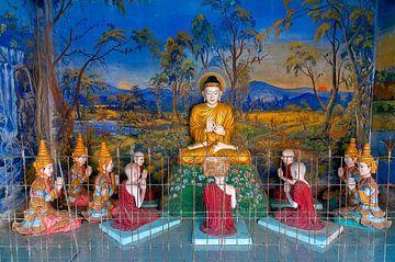 Monywa Township: Thanboddhay pagode van Maarten Verhees