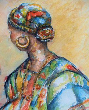 Goldfarbene Ohrringe. von Ineke de Rijk