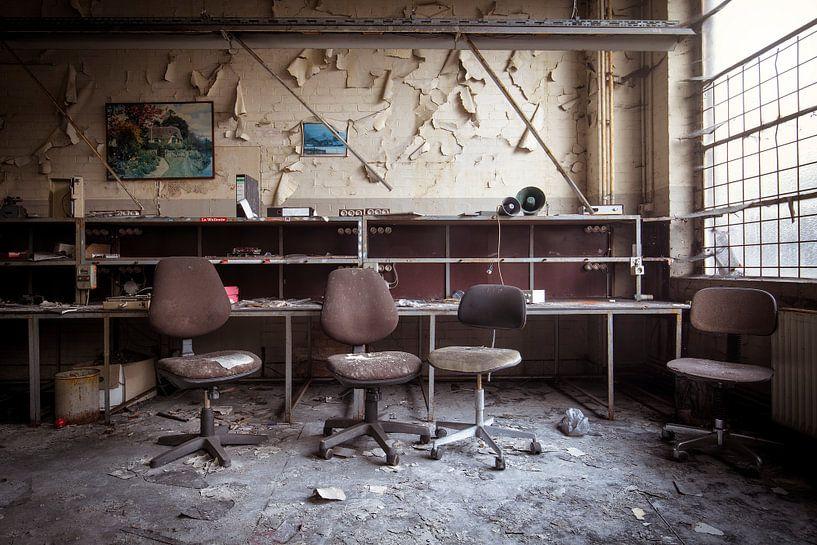 verlaten bureau van Kristof Ven