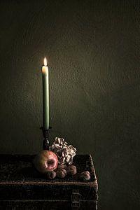 Stillleben mit Kerze