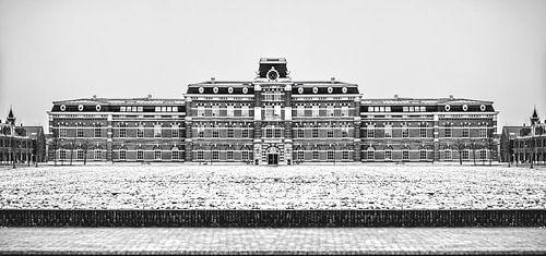 Ripperda Kazerne, Haarlem (zwart-wit) van
